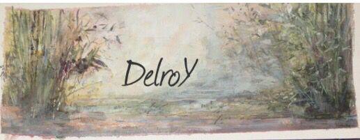 """DelroY acrílico 2013 """"el estanque de Julia"""""""