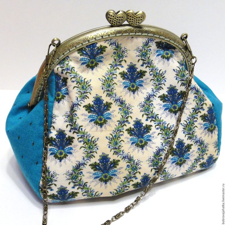 Купить Женская косметичка с фермуаром Голубой клатч сумка Подарок подруге - косметичка дорожная