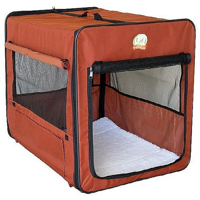 Soft Dog Crate Folding 43 Inch Carrier Kennel Pet Collapsible Carrying Case New #GoPet