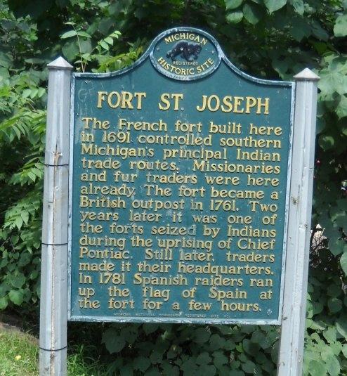 fort st. joseph historical marker