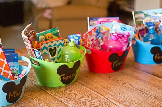 Disney travel kits - fun ideas for gifts for kids before the big trip.