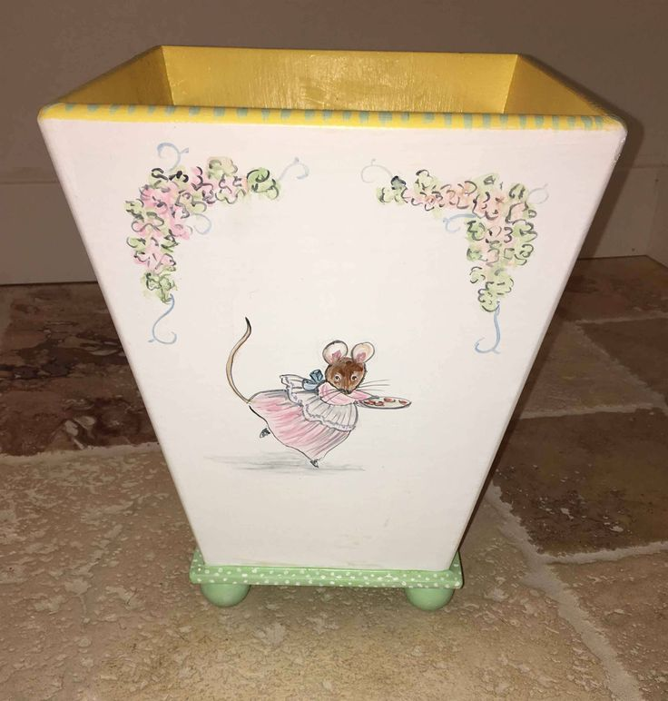25  best painted trash cans ideas on pinterest