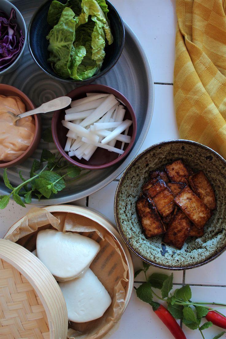 Vegetarisk Bao Bao med hoisin tofu