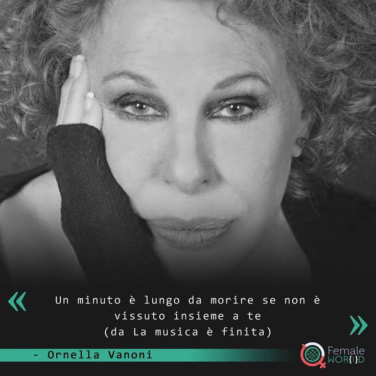 Il 22 settembre 1934 nasce Ornella Vanoni, considerata una delle migliori interpreti, tra le più note ed importanti, della musica leggera italiana. La sua voce morbida e affascinante è ciò che l'ha resa inconfondibile. Talentuosa e poliedrica, ha prestato la sua anima e il suo corpo al teatro, alla canzone, alla televisione e al cinema. Oggi, 22 settembre, Ornella Vanoni compie 81 anni. #AccaddeOggi #FemaleWorldStory #Citazioni #Quotes #OrnellaVanoni #FemaleWorld
