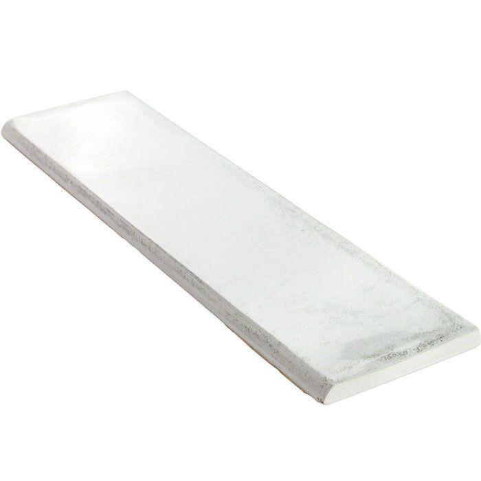 Moze 12 X 3 Ceramic Bullnose Tile Trim In White Tile Trim Bullnose Tile Ceramics