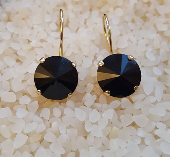 Check out this item in my Etsy shop https://www.etsy.com/ca/listing/569561218/black-crystal-round-earringonyx-dangle