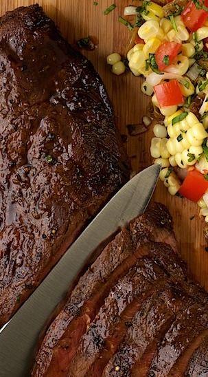 Molasses-Ginger Grilled Flat Iron Steak