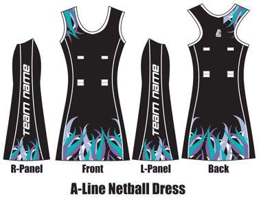 Sublimated Netball Dress - Custom Netball Dress
