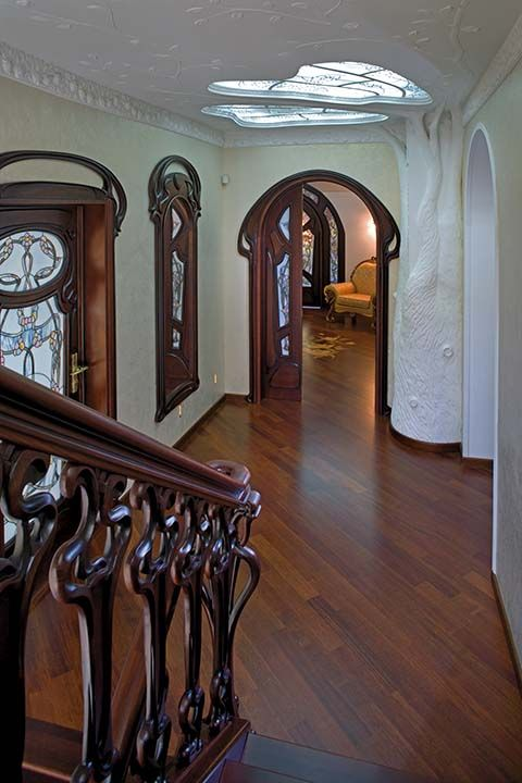 Vintage or reproduction? Don't know and link doesn't seem to work correctly, but I love this Art Nouveau Interior