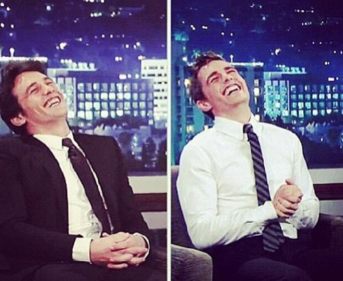 Proof that James and Dave are brothers. I love the Franco bros!