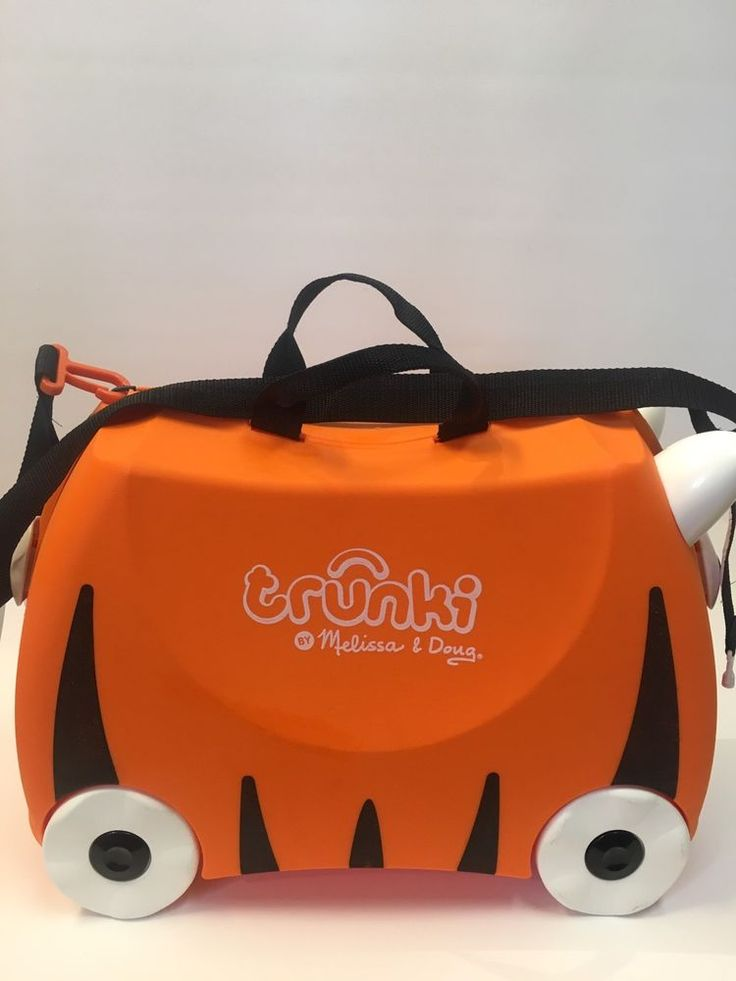 Trunki Ride-on Pull Along Suitcase ORANGE TIGER Melissa Doug Baggage Carry On    eBay
