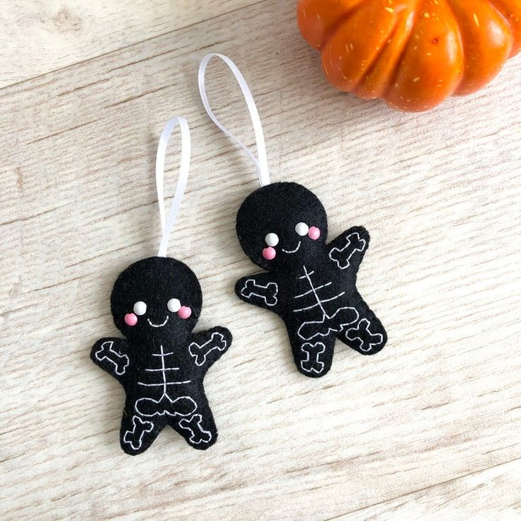 Skeleton Cookie Decoration, felt halloween decoration