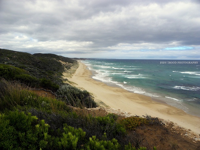 On a gloomy summers day...the turbulent waters of Bass Strait - Portsea, Victoria.
