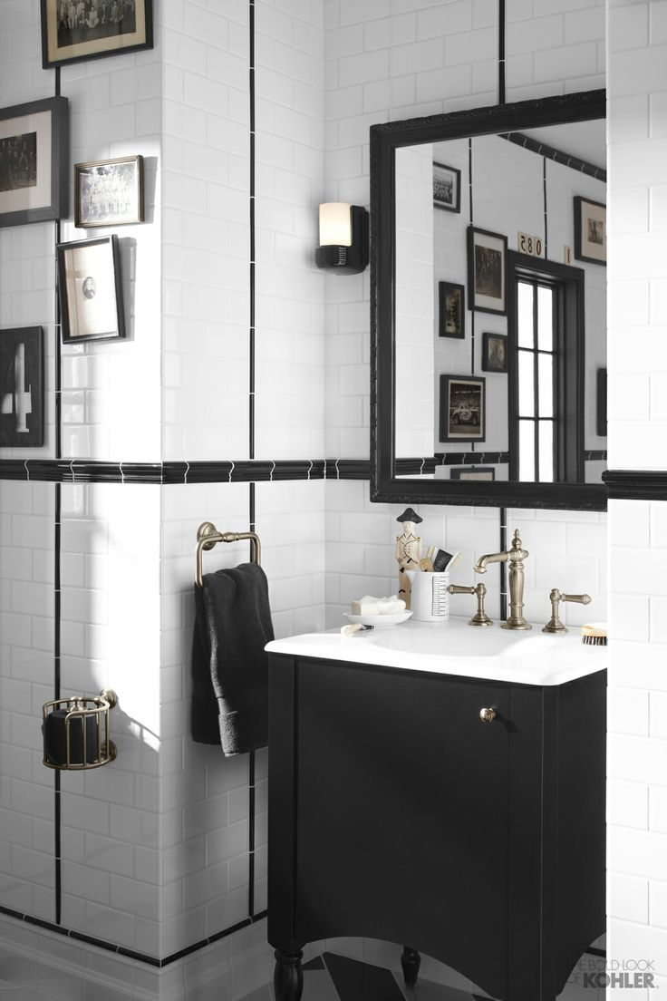 Classic black u0026 white bathroom 44 best