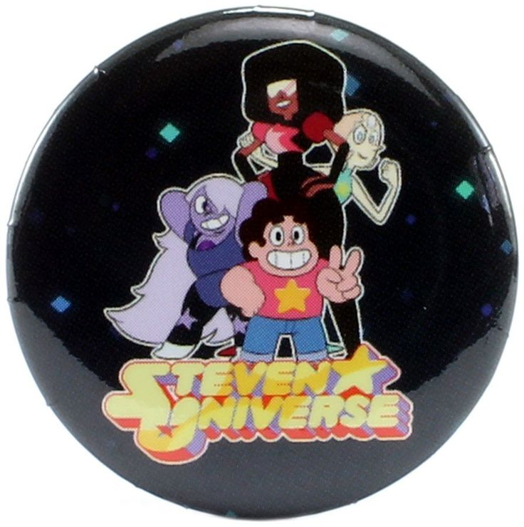 """Steven Universe Crystal Gems Victory Pose 1.25"""" Button"""