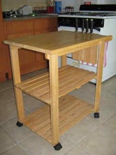 Winsome Wood Utility Kitchen Cart Beechwood