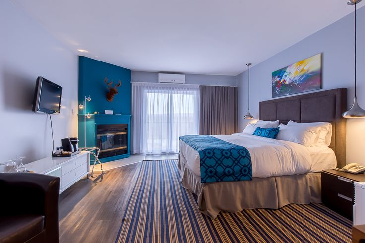 New Prestige King room, modern design with a blue pop of color!