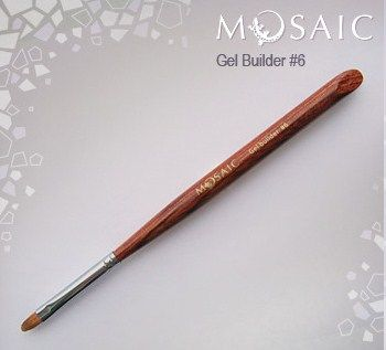 Gel builder brush #6 Kolinsky sable 9mmx5mm