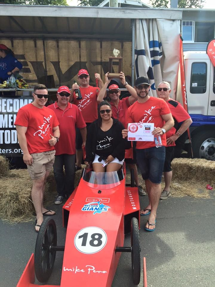 Winners of the 2016 Mike Pero Trolley Derby - Yay it's us!
