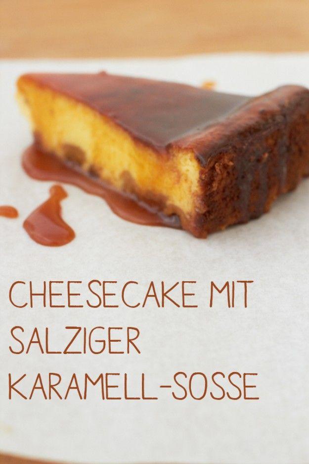 Cheesecake mit salziger Karamell Sosse