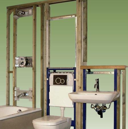 Concealed Toilet Cisterns and Hidden Bathroom Frame Kits - Livinghouse UK