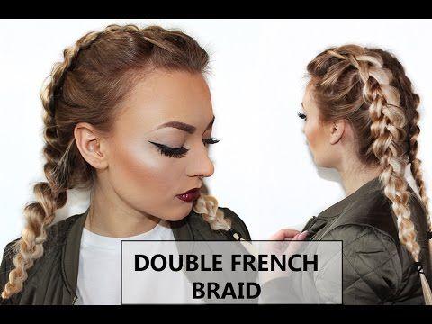 Double Dutch/ French Braid Hair Tutorial// Doppelter Französischer Zopf ...