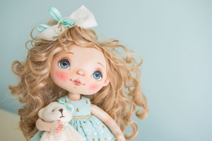 I Create One-Of-A-Kind Dolls By Sewing Them And Handpainting Their Faces