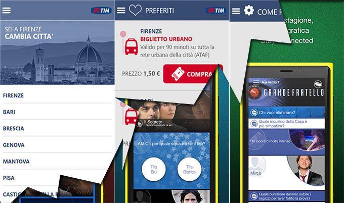 L'app Mediaset e TIMMobility per Windows Phone ricevono un aggiornamento http://www.sapereweb.it/lapp-mediaset-e-timmobility-per-windows-phone-ricevono-un-aggiornamento/        Tra le app per Windows Phone che in queste ore hanno ricevuto un aggiornamento troviamo l'app ufficiale Mediaset e l'app TIMMobility.  L'app ufficiale Mediaset che permette la visione in diretta di tutti i canali Mediaset e di interagire con i programmi supportati si aggiorna alla versi...