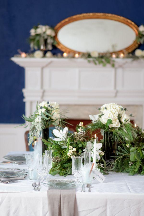 Winter tablescape    #wedding #weddingideas #aislesociety #winterwedding #rusticwedding