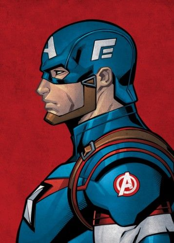 Marvel Captain America metal poster - PosterPlate posters made out of metal