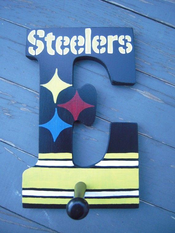 Custom handpainted Pittsburgh Steelers Wooden by simplymade, $15.00