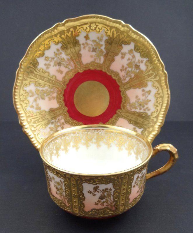 Superb Antique Coronet Limoges Tea Cup & Saucer | Tea Time