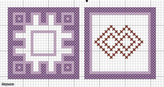 Символ Орепей а с другой Репейник.Вышивать можно в виде бискорню обшить край шва бисеринками чтоб как репяшки цеплялось счастье.
