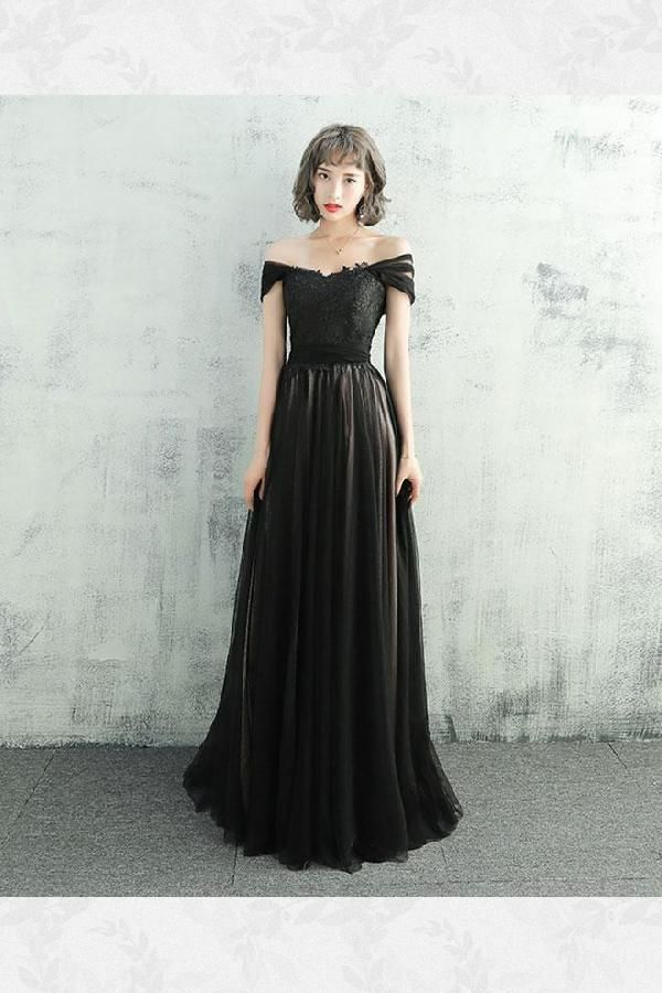 Korean Black Prom Dress