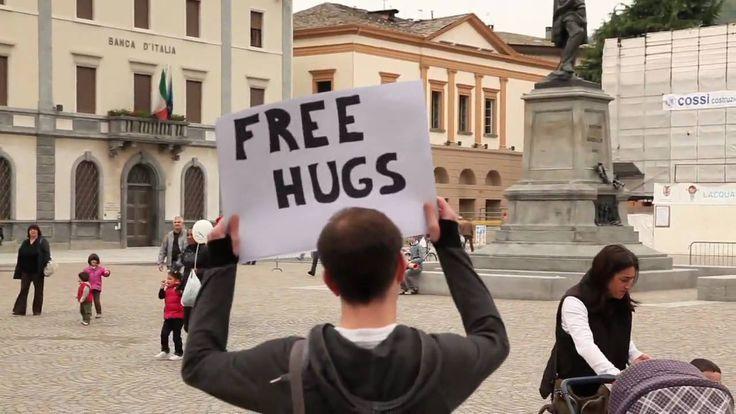 Free Hugs in Sondrio, Italy