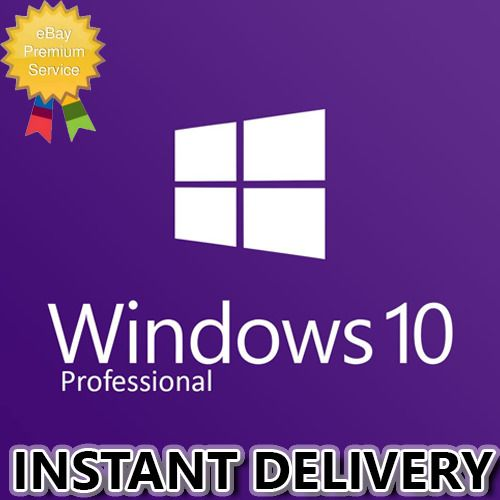 Ebay Advertisement Microsoft Windows 10 Pro Professional 32 64bit