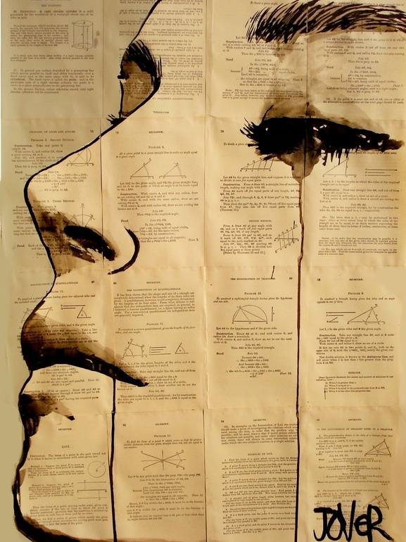 """Loui Jover; Pen and Ink, 2013, Drawing """"content"""""""