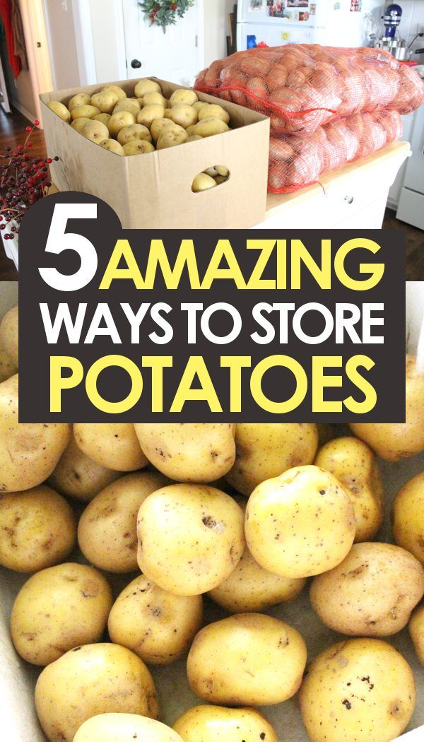 5 Genius Ways To Store Potatoes How To Store Potatoes Food Storing Vegetables