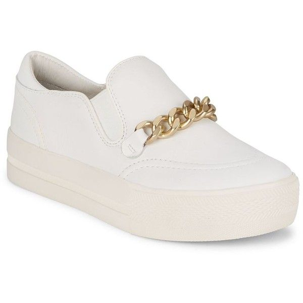 Ash Joe Slip-On Platform Sneakers ($100) ❤ liked on Polyvore featuring shoes, sneakers, zapatos, ash sneakers, leather sneakers, slip on sneakers, white platform sneakers and platform shoes