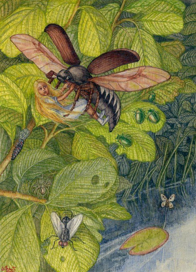 Майский жук из дюймовочки картинки