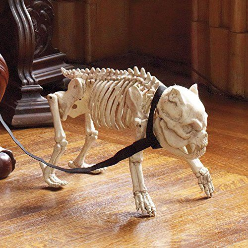 life size skeleton dog halloween prop decoration amazoncouk kitchen