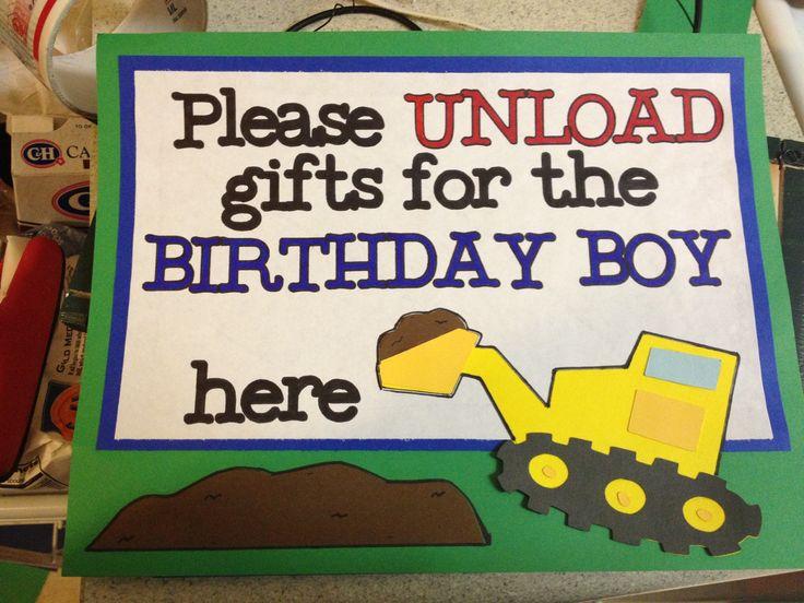 Transportation birthday sign