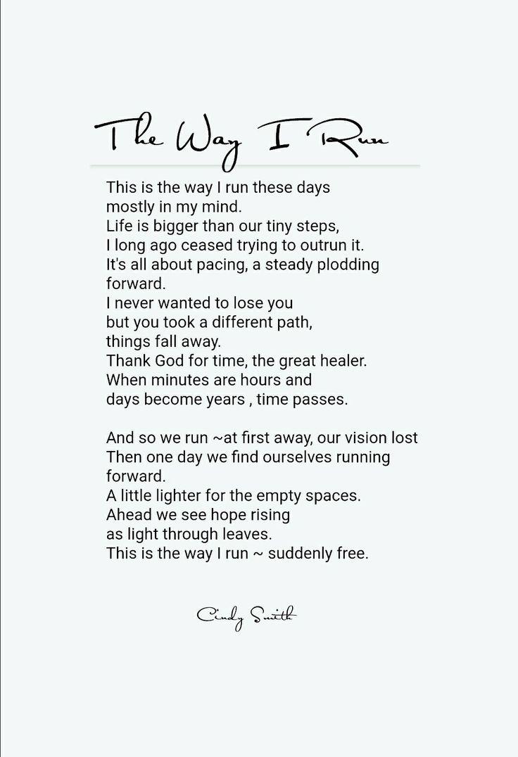The way I run Cindy Smith
