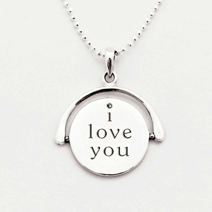 Tales From the Earth Silver I Love You Spinning Necklace #Jewellery #Gifts