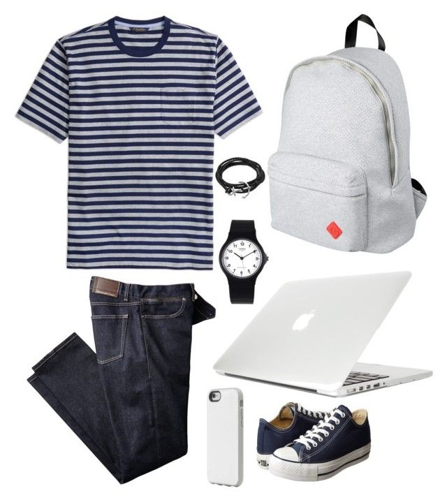 """Timid Prodigy"" by chocofit on Polyvore featuring Brooks Brothers, Converse, 8, Casio, Oxford Ivy, Incase, Moshi, men's fashion and menswear"