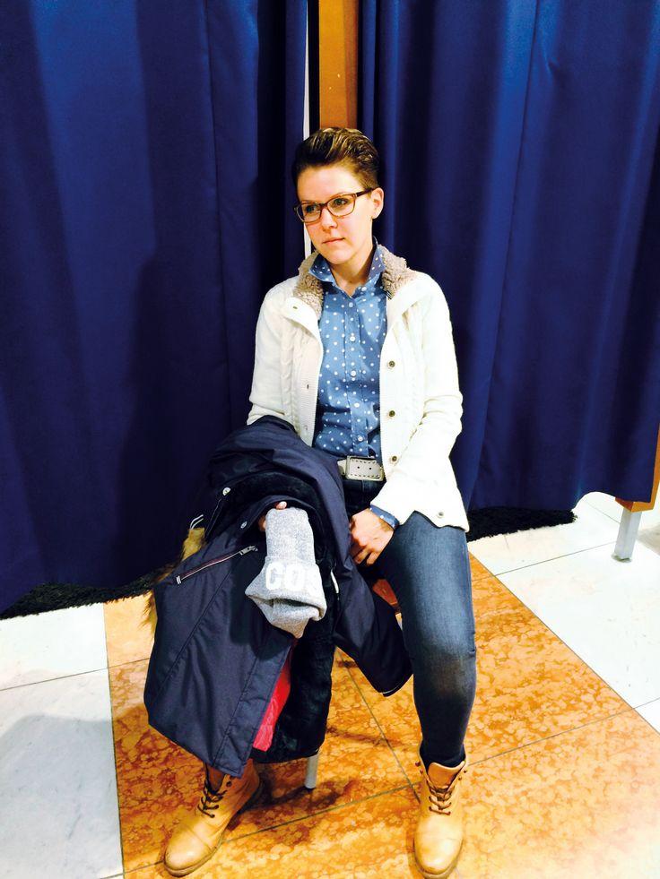 Outfit der Woche! Bluse: Gant – Jeans: Boss Orange – Jacke & Strickjacke: Gaastra – Mütze: Opus – Gürtel: Vanzetti #ootw #fashion