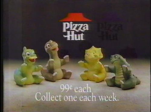 Land Before Time Pizza Hut toys
