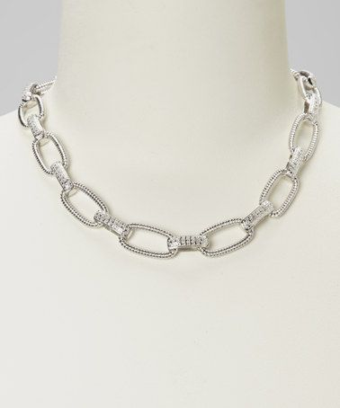 Take a look at this Diamond & Silver Link Necklace by Marsala on #zulily today!