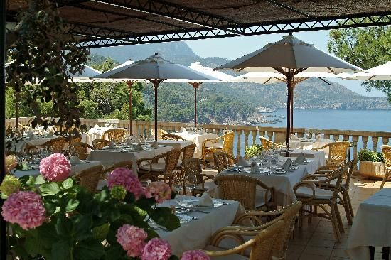 Perhaps one of the most beautiful restaurants I have ever dined at. Cant believe I found this picture online because Adam and I sat right there to celebrate our one year wedding anniversary! Bens d'aval, Mallorca Spain