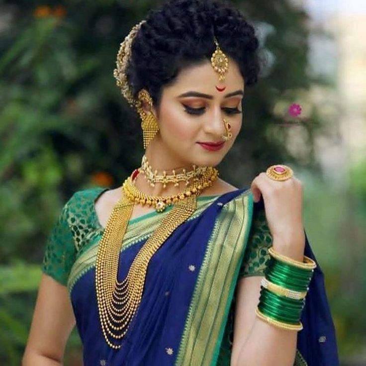 #BeautyTipsNatural | Marathi bride, Indian bridal dress, Indian bride hairstyle